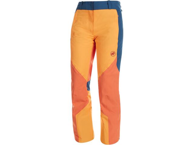Mammut Casanna HS Pantaloni termici Donna, giallo/arancione